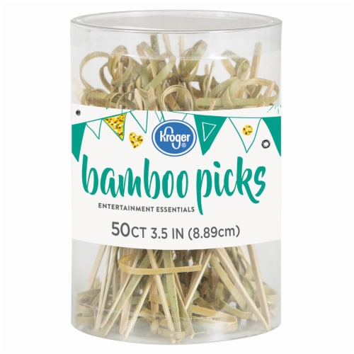 Kroger® Entertainment Essentials Bamboo Picks Pack Perspective: front
