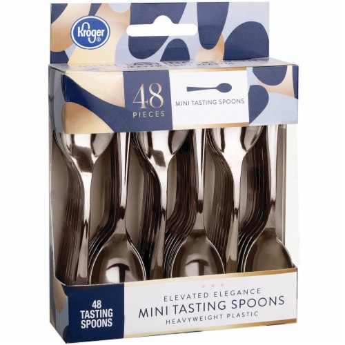 Kroger® Elevated Elegance Heavyweight Plastic Mini Tasting Spoons Perspective: front
