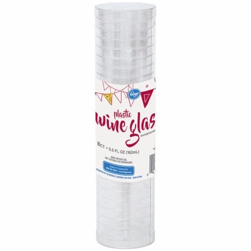 Kroger® Entertainment Essentials Plastic Wine Glasses Perspective: front