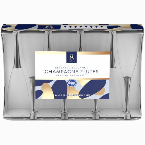 Kroger® Champagne Flutes - Clear Perspective: front