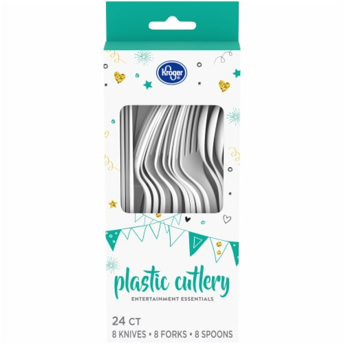 Kroger® Entertainment Essentials Plastic Cutlery - White Perspective: front