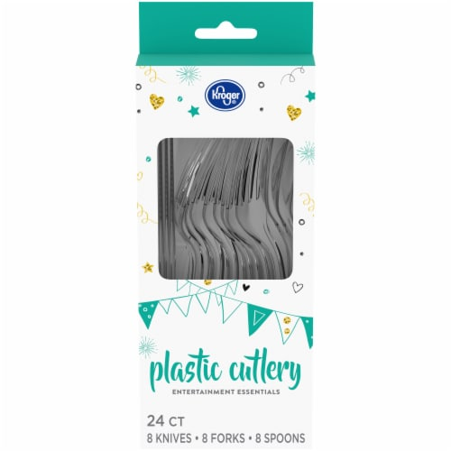 Kroger® Entertainment Essentials Plastic Cutlery - Clear Perspective: front