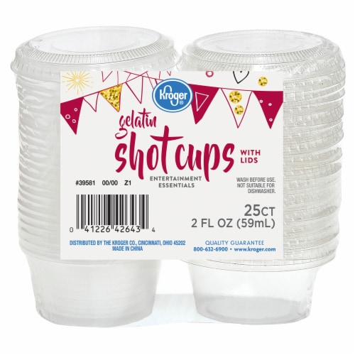 Kroger® Entertainment Essentials Gelatin Shot Cups with Lids - Clear Perspective: front