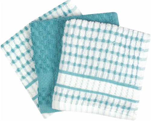Everyday Living Popcorn Dish Cloth Set - Dew Perspective: front