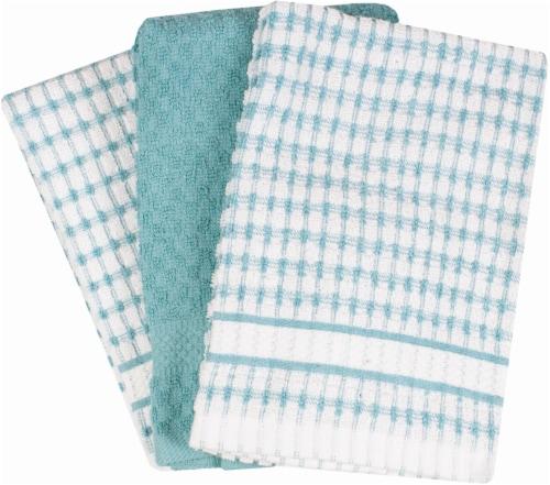 Everyday Living Popcorn Kitchen Towel Set - Dew Perspective: front