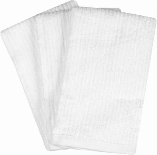 Everyday Living Bar Mop Towels - 3 Pack - White Perspective: front