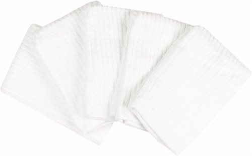 Everyday Living Dish Cloths - 5 Pack - White Perspective: front