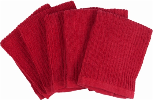 Everyday Living Dish Cloths - 5 Pack - Red Perspective: front
