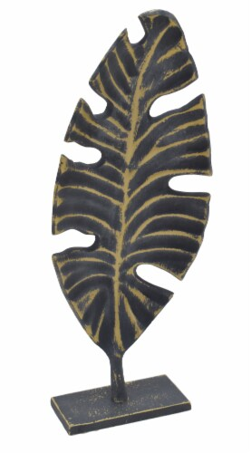 HD Designs Monstera Leaf Decor - Gold Perspective: front