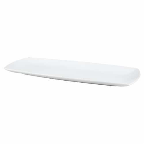 Dash of That Oval Platter - White Perspective: front