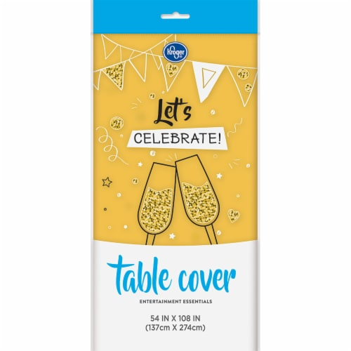Kroger® Entertainment Essentials Table Cover - Yellow Perspective: front