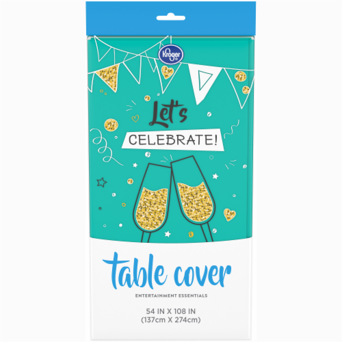 Kroger® Entertainment Essentials Table Cover - Teal Perspective: front