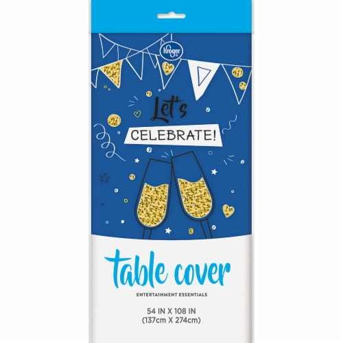 Kroger® Entertainment Essentials Table Cover - Blue Perspective: front