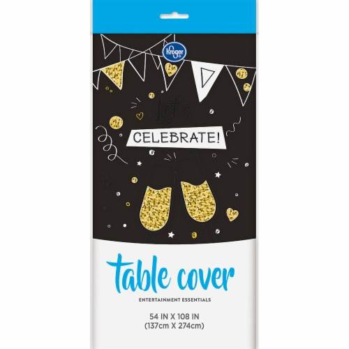 Kroger® Entertainment Essentials Table Cover - Black Perspective: front