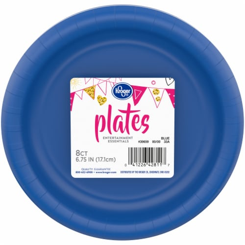 Kroger® Entertainment Essentials Paper Plates - Blue Perspective: front