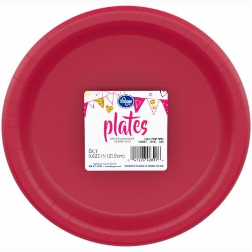 Kroger® Entertainment Essentials Paper Plates - Lollipop Pink Perspective: front
