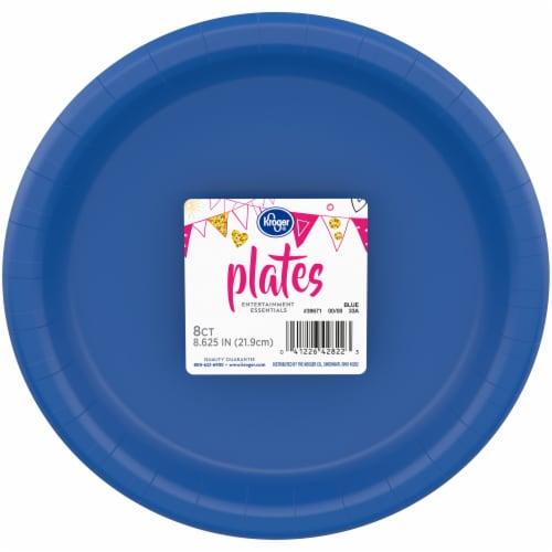 Kroger® Entertainment Essentials Paper Plates - Blue Perspective: front
