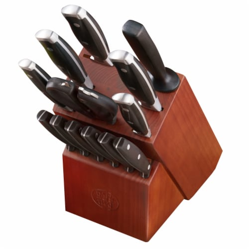 Dash of That Block Knife Set - Brown/Silver/Black Perspective: front