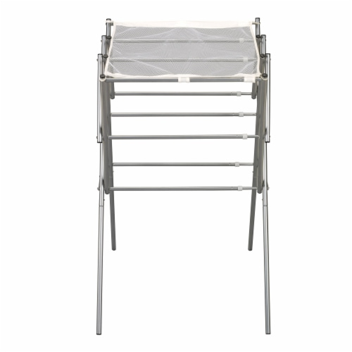 Everyday Living Extendable Metal Clothes Drying Rack - Silver Perspective: front