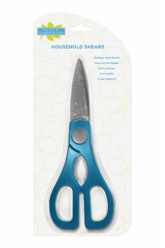 The Joy of Gardening® Household Shears - Blue Sapphire Perspective: front