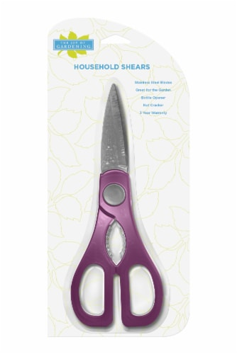 The Joy of Gardening® Stainless Household Shears - Plum Perspective: front