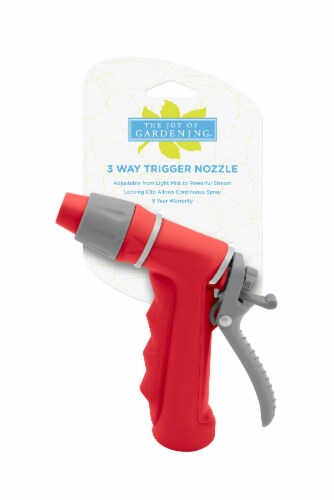The Joy of Gardening® 3-Way Trigger Nozzle - Red Perspective: front