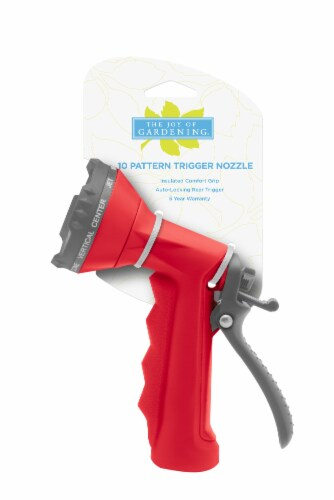 The Joy of Gardening® 10-Pattern Trigger Nozzle - Red Perspective: front