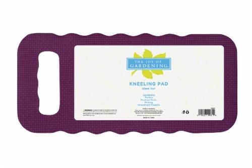 The Joy of Gardening Standard Kneeling Pad - Plum Caspia Perspective: front