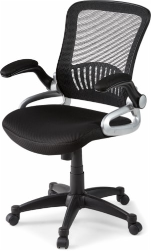 HD Designs Soho Mesh Manager Chair - Black/Silver Perspective: front