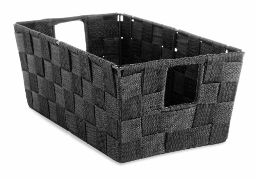 Everyday Living Small Woven Strap Shelf Tote - Black Perspective: front