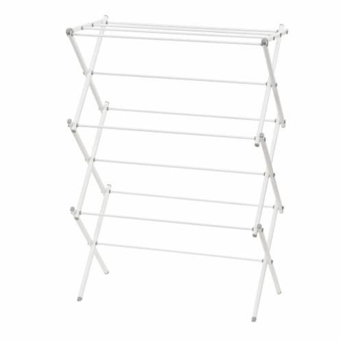 Everyday Living Folding Metal Clothes Dryer - White Perspective: front