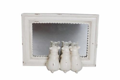 HD Designs® Pig Mirror - Cream Perspective: front