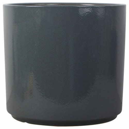 The Joy of Gardening Cylinder Planter - Quarry Perspective: front