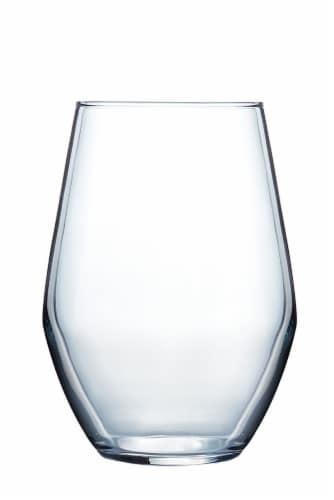 Dip Stemless Wine Glass - Clear Perspective: front