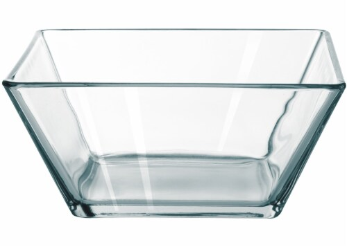 Dip Tempo Square Serving Bowl - Clear Perspective: front