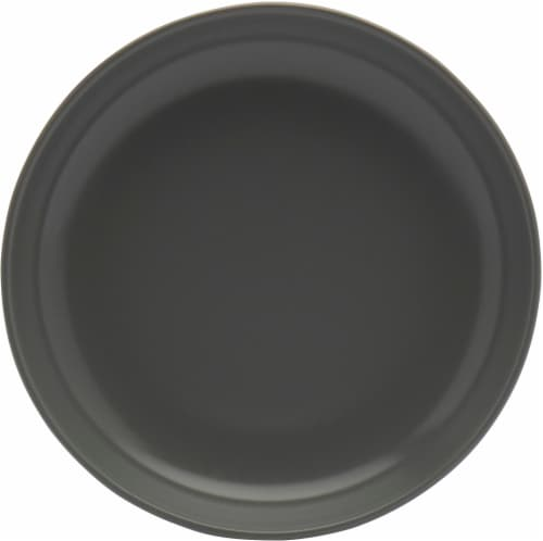 Dip Semi-Matte Dinner Bowl - Monument Gray Perspective: front