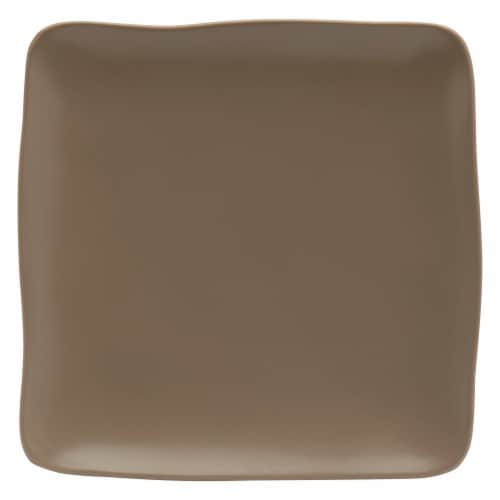 Dip Square Dinner Plate - Chateau Gray Perspective: front