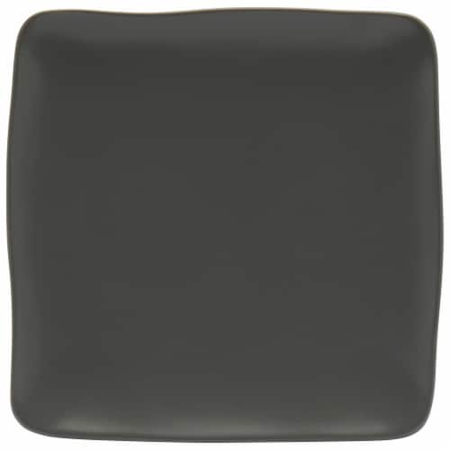 Dip Square Dinner Plate - Monument Gray Perspective: front