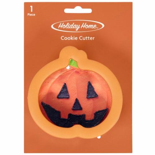 Holiday Home™ Comfort Grip Pumpkin Cookie Cutter - Orange Perspective: front