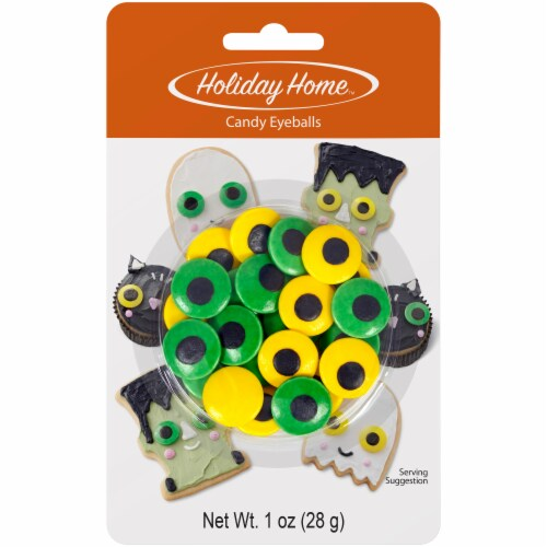 Holiday Home™ Spooky Large Candy Eyeballs - Yellow/Green Perspective: front
