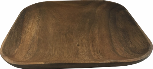 Dash of That Acacia Wood Square Serving Platter - Brown Perspective: front