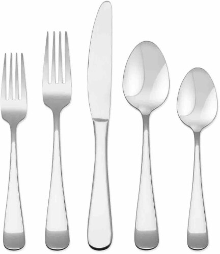 Dash of That Mila Mirror Stainless Steel Flatware Set - Silver Perspective: front
