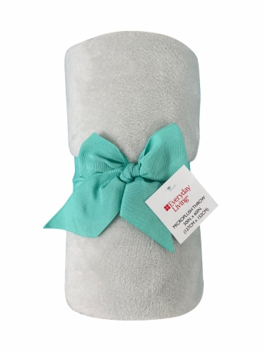 Everyday Living® Microplush Throw - Gray Perspective: front