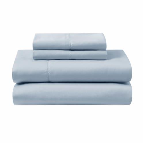 Modavari Home Fashions Organic Sheet Set - Blue Perspective: front
