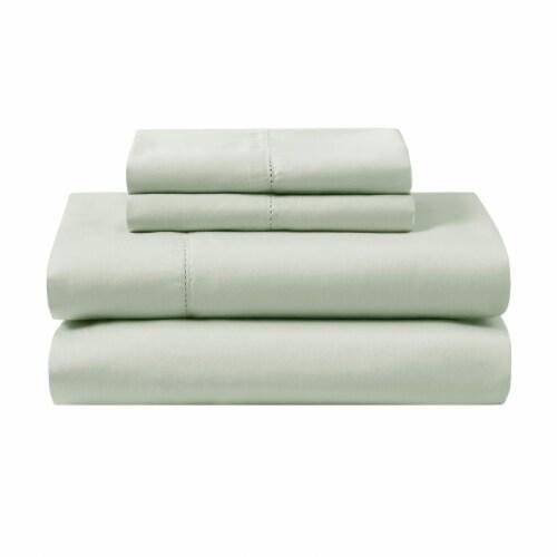 Modavari Home Fashions Organic Sheet Set - Green Perspective: front