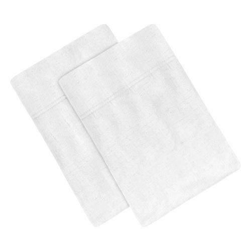 Modavari Home Fashions 180 Thread Count Linen Pillowcases - White Perspective: front