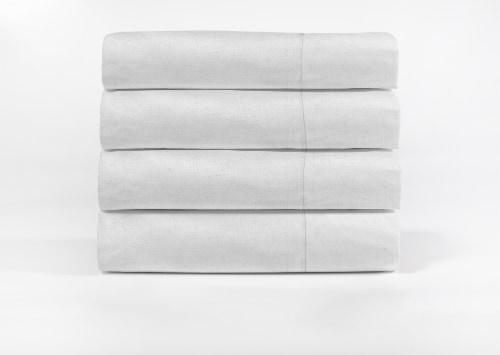Modavari Linen Sheet Set - 4 Piece - White Perspective: front