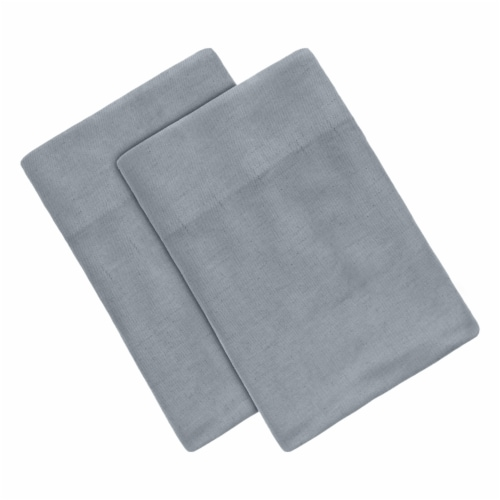Modavari Home Fashions 180 Thread Count Linen Pillowcases - Gray Perspective: front