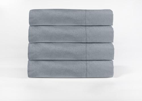Modavari Home Fashions Linen Sheet Set - 4 Piece - Gray Perspective: front