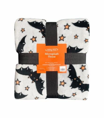 Holiday Home® Bats Halloween Throw Perspective: front